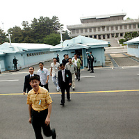 PANMUNJOM, MAY-16:  a South Korean delegation returns from the house that is shared by South and North Korea  in  the DMZ.