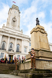 Remembrance Sunday Barnsley cenotaph and Townhall <br /> <br />  Copyright Paul David Drabble<br />  10 November 2019<br />  www.pauldaviddrabble.co.uk