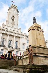 Remembrance Sunday Barnsley cenotaph and Townhall <br /> <br />  Copyright Paul David Drabble<br />  10 November 2019<br />  www.pauldaviddrabble.co.uk