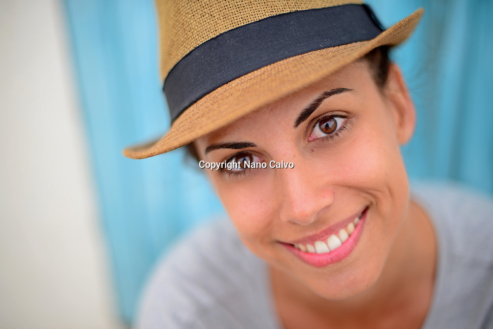 Attractive young woman in Ibiza, Balearic Islands, Spain