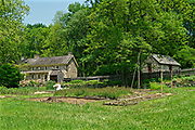 Gardens and house, Colonial Plantation, Ridley State Park, Delaware County, PA