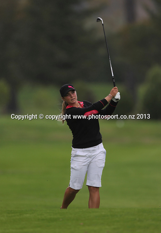 Hanna Seifert on the final day of the 2013 New Zealand Amateur Championship, Manawatu Golf Club, Palmerston North, New Zealand. Sunday 26 April 2013. Photo: John Cowpland / photosport.co.nz