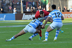 June 16, 2018 - Santa Fe, Argentina - Scott Williams from Wales breaks with the ball during the International Test Match between Argentina and Wales at the Brigadier Estanislao Lopez Stadium, on June 16, 2018 in Sante Fe, Argentina. (Credit Image: © Javier Escobar/NurPhoto via ZUMA Press)