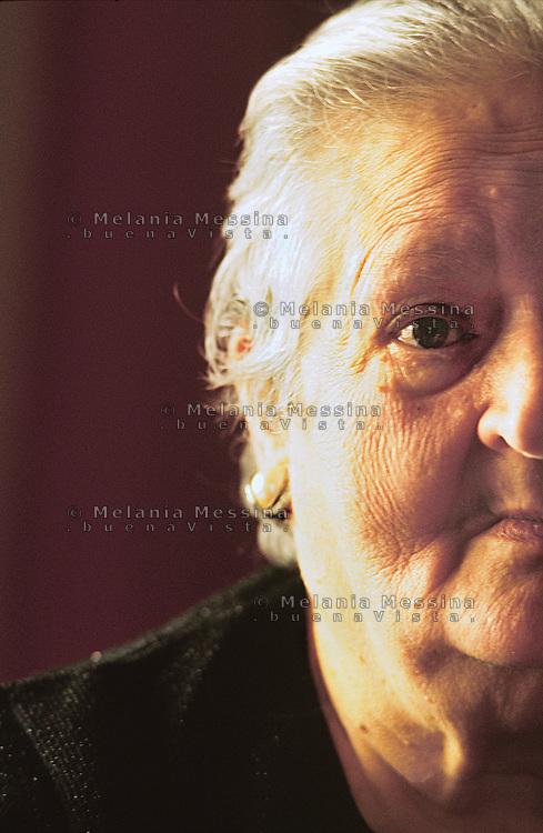 Giuseppina Rizzotto, sorella del sindacalista Placido ucciso dalla mafia a Corleone nel 48.<br /> <br /> Giusseppina Rizzotto, sister of Placido, unionist killed by Mafia in Corleone in 1948.