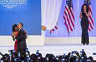 U .S. President Barack Obama and First Lady Michelle Obama dance at the Inaugural Ball in Washington, D.C. on Monday January 21, 2013. President Obama took the oath of office earlier in the morning moving on to his second term in office.  Photo Ken Cedeno