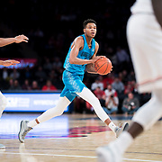 January 9, 2018, New York, NY : Georgetown's Jamorko Pickett (1) drives against St. John's during Tuesday night's matchup between the Hoyas and Red Storm at Madison Square Garden. In something of a rematch of their 1985 contest, Basketball greats Patrick Ewing and Chris Mullin returned to Madison Square Garden on Tuesday night to face off as coaches with their respective Georgetown and St. John's teams.  CREDIT: Karsten Moran for The New York Times