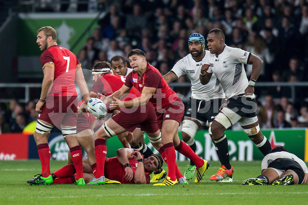 Ben Youngs of England during the Rugby World Cup 2015 Pool A match between England and Fiji played at Twickenham Stadium, London on 18 September 2015. Photo by Liam McAvoy.
