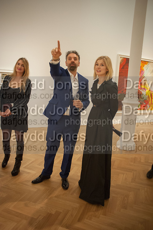 PRINCESS MARIA VON THURN UND TAXIS; KEITH TYSON; ROSAMUND PIKE, Panta Rhei. An exhibition of work by Keith Tyson. The Pace Gallery. Burlington Gdns. 6 February 2013.