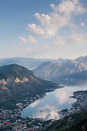 View of Kotor and the Kotor Bay, Montenegro