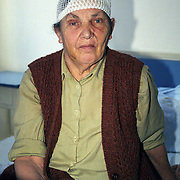 Serbian enclave in Kosovo. A woman in the U.N. clinic after being injured  by Kosovans.