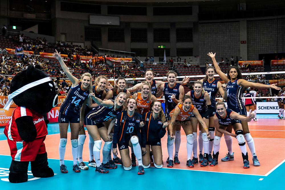 08-10-2018 JPN: World Championship Volleyball Women day 9, Nagoya<br /> Netherlands - Dominican Republic 3-0 / Team NL