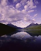 AA01134-01...MONTANA - Evening at Bowman Lake in Glacier National Park.