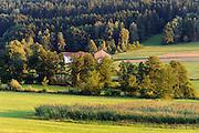 Landschaft südöstlich von Bad Kötzing, Bayerischer Wald, Bayern, Deutschland   landscape south east of Bad Koetzing, Bavarian Forest, Bavaria, Germany