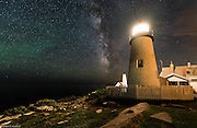 Milky Way at Pemaquid Lighthouse in New Harbor, ME
