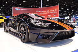 09 February 2017: 2017 Ford GT<br /> <br /> First staged in 1901, the Chicago Auto Show is the largest auto show in North America and has been held more times than any other auto exposition on the continent.  It has been  presented by the Chicago Automobile Trade Association (CATA) since 1935.  It is held at McCormick Place, Chicago Illinois<br /> #CAS17