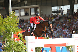 Guerdat Steve, (SUI), Corbinian<br /> CSIO Nations Cup - Mannheim 2015<br /> © Hippo Foto - Stefan Lafrentz