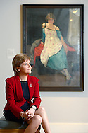 The Scottish National Gallery of Modern Art &ndash; Modern Two<br /> <br /> The First Minister of Scotland, Nicola Sturgeon, pays a visit to the Scottish National Gallery of Modern Art to officially open the National Galleries of Scotland&rsquo;s first major exhibition of the work of female Scottish artists, Modern Scottish Women: Painters and Sculptors 1885-1965.<br /> <br /> The First Minister views Dorothy Carleton Smyth's self-portrait. <br /> <br /> Dorothy Carleton Smyth (1880-1933)<br /> Self-portrait, 1921<br /> Oil on canvas, 76.8 x 68.6<br /> Glasgow Life (Glasgow Museums) on behalf of Glasgow City Council: Gift from Olive C. Smyth 1948<br />   <br />  Neil Hanna Photography<br /> www.neilhannaphotography.co.uk<br /> 07702 246823