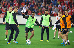 MELBOURNE, AUSTRALIA - Tuesday, July 23, 2013: Liverpool's Raheem Sterling during a training session at the Melbourne Cricket Ground ahead of their preseason friendly against Melbourne Victory. (Pic by David Rawcliffe/Propaganda)