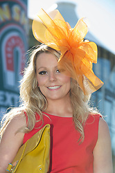 LIVERPOOL, ENGLAND, Friday, April 8, 2011: A racegoer during Ladies' Day on Day Two of the Aintree Grand National Festival at Aintree Racecourse. (Photo by David Rawcliffe/Propaganda)