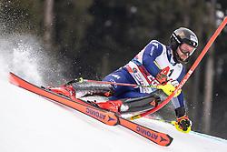 26.01.2020, Streif, Kitzbühel, AUT, FIS Weltcup Ski Alpin, Slalom, Herren, im Bild Simon Maurberger (ITA) // Simon Maurberger of Italy in action during his run in the men's Slalom of FIS Ski Alpine World Cup at the Streif in Kitzbühel, Austria on 2020/01/26. EXPA Pictures © 2020, PhotoCredit: EXPA/ Johann Groder
