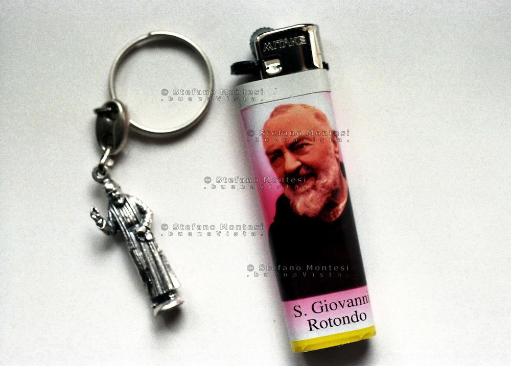 San Giovanni Rotondo. Souvenir di  Padre Pio.San Giovanni Rotondo.Souvenirs of Padre Pio
