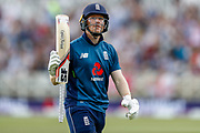 England ODI Captain & Batsman Eoin Morgan is out for 67  during the third Royal London One Day International match between England and Australia at Trent Bridge, West Bridgford, United Kingdom on 19 June 2018. Picture by Simon Davies.