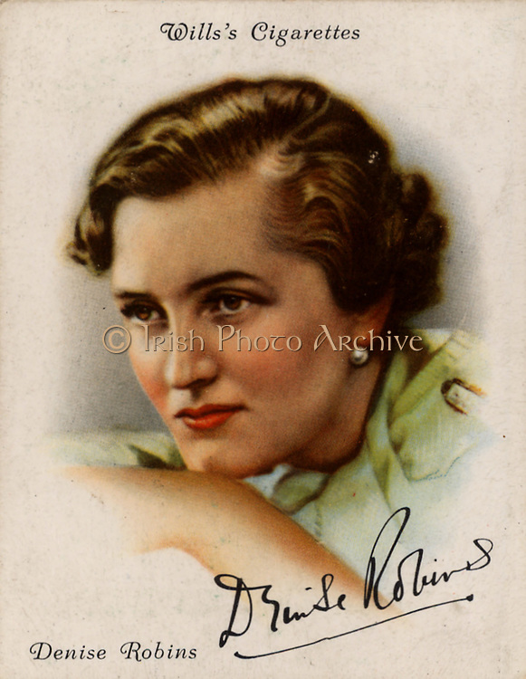 Denise Robins (1897-1985) British popular novelist, dramatist and short story writer. From a series of cards of 'Famous British Authors' (London, 1937).