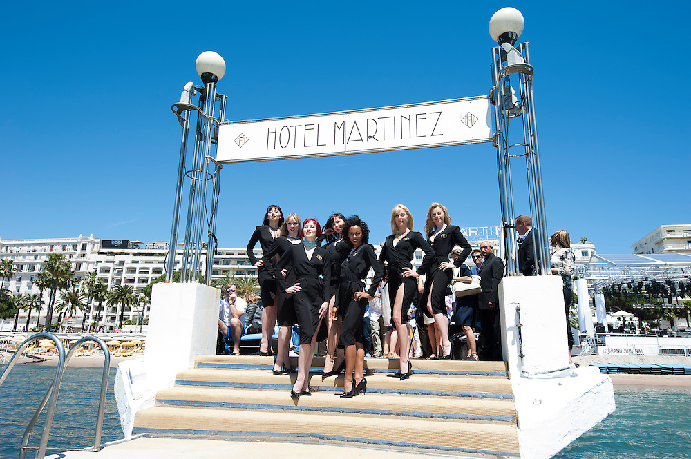 Crazy Horse Dancers Present Chopard Diamonds at The end of The Martinez pier in Cannes during the 64th Festival des Cannes.