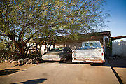 "15 JANUARY 2010 - TUCSON, AZ:    The home of Jared Lee Loughner in Tucson, AZ, Saturday, January 15. Six people were killed and 14 injured in the shooting spree at a ""Congress on Your Corner"" event hosted by Arizona Congresswoman Gabrielle Giffords at a Safeway grocery store in north Tucson on January 8. Congresswoman Giffords, the intended target of the attack, was shot in the head and seriously injured in the attack but is recovering. Doctors announced that they removed her breathing tube Saturday, one week after the attack. The alleged gunman, Jared Lee Loughner, was wrestled to the ground by bystanders when he stopped shooting to reload the Glock 19 semi-automatic pistol. Loughner is currently in federal custody at a medium security prison near Phoenix. PHOTO BY JACK KURTZ"