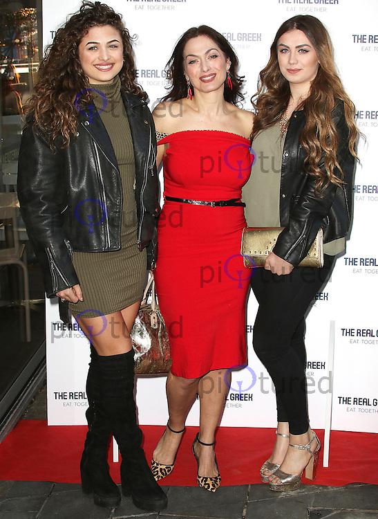 Tonia Buxton, Sophia Buxton & Antigoni Buxton, The Real Greek - Dining Event, Cookoovaya at The Real Greek, London UK, 19 April 2016, Photo by Brett D. Cove