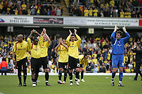 Photo: Lee Earle.<br /> Watford v Hull. Coca Cola Championship. 30/04/2006. Watford players celebrate their play-off place.