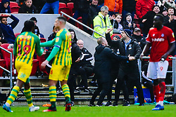 West Brom manager Slaven Bilic reacts after Romaine Sawyers of West Brom is shown a red card - Rogan/JMP - 22/02/2020 - Ashton Gate Stadium - Bristol, England - Bristol City v West Bromwich Albion - Sky Bet Championship.