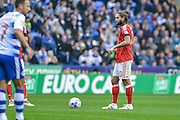 Nottingham Forest midfielder Henri Lansbury (10) lines up a free kick during the EFL Sky Bet Championship match between Reading and Nottingham Forest at the Madejski Stadium, Reading, England on 29 October 2016. Photo by Mark Davies.