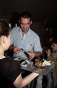 Roland Mouret. Remi and Olivier Krug host the Krug Rose celebration. Debenham Place, 8 Addison Rd. London W14. 28 June 2005. ONE TIME USE ONLY - DO NOT ARCHIVE  © Copyright Photograph by Dafydd Jones 66 Stockwell Park Rd. London SW9 0DA Tel 020 7733 0108 www.dafjones.com