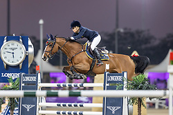 TOPS-ALEXANDER Edwina (AUS), Identity Vitseroel  <br /> Doha - CHI Al SHAQAB 2020<br /> Commercial Bank CHI Al Shaqab Grand Prix presented by LONGINES<br /> Int. jumping competition over two rounds and jump-off (1.60 m)<br /> 29. Februar 2020<br /> © www.sportfotos-lafrentz.de/Stefan Lafrentz
