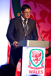NEWPORT, WALES - Friday, May 29, 2015: Welsh Football Trust Chief Executive Neil Ward during the Football Association of Wales' National Coaches Conference 2015 at the Celtic Manor Resort. (Pic by David Rawcliffe/Propaganda)