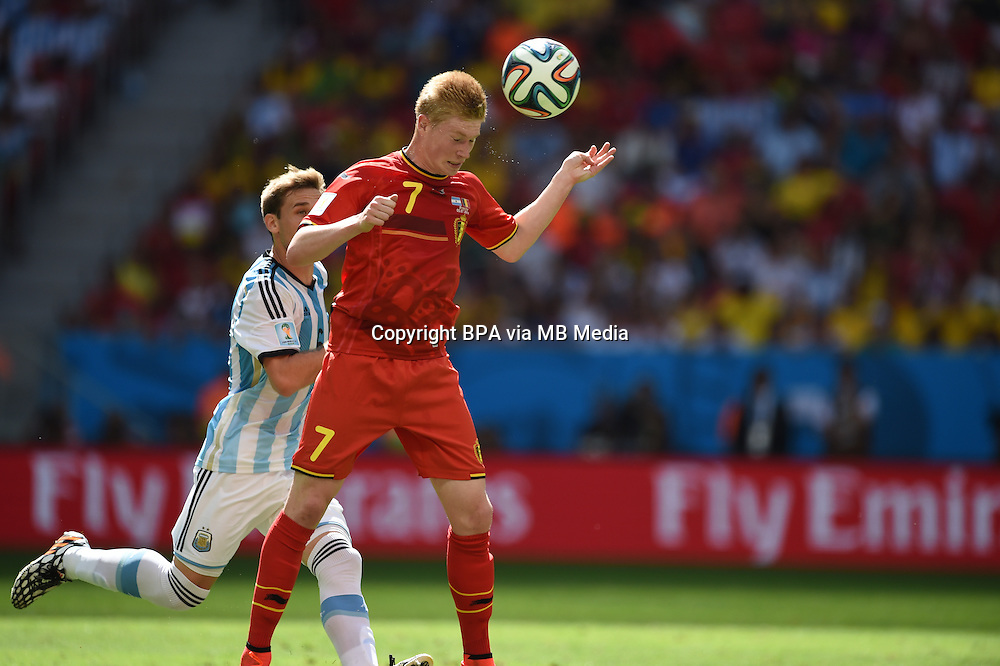 Kevin de Bruyne. Argentina v Belgium, quarter-final. FIFA World Cup 2014 Brazil. National stadium, Brasilia. 05 July 2014