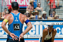 Alison Conte Cerutti of Brazil and Ricardo Costa Santos of Brazil at A1 Beach Volleyball Grand Slam tournament of Swatch FIVB World Tour 2010, bronze medal, on August 1, 2010 in Klagenfurt, Austria. (Photo by Matic Klansek Velej / Sportida)