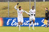 JOIE DE Denys BAIN - 24.01.2015 - Clermont / Chateauroux  - 21eme journee de Ligue2<br />Photo : Jean Paul Thomas / Icon Sport