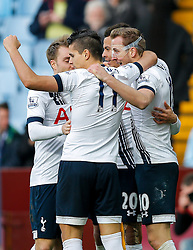 Harry Kane of Tottenham Hotspur celebrates scoring his secong goal to make it 0-2 - Mandatory byline: Rogan Thomson/JMP - 13/03/2016 - FOOTBALL - Villa Park Stadium - Birmingham, England - Aston Villa v Tottenham Hotspur - Barclays Premier League.