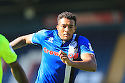 Nathaniel Mendez-Laing during the EFL Sky Bet League 1 match between Rochdale and Peterborough United at Spotland, Rochdale, England on 6 August 2016. Photo by Daniel Youngs.