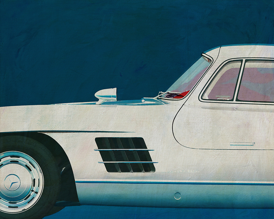The 1964 Mercedes 300SL Gullwings is currently the most popular and therefore also the most expensive car. Its lines, appearance and history are legendary. Every visitor to your interior will notice this painting and appreciate your sense of design. –<br /> <br /> <br /> BUY THIS PRINT AT<br /> <br /> FINE ART AMERICA<br /> ENGLISH<br /> https://janke.pixels.com/featured/1-mercedes-300sl-gullwings-1964-jan-keteleer.html<br /> <br /> WADM / OH MY PRINTS<br /> DUTCH / FRENCH / GERMAN<br /> https://www.werkaandemuur.nl/nl/shopwerk/Mercedes-300SL-Meeuwenvleugels-1964/528882/132