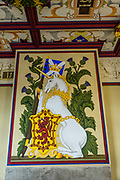 Inside Stirling Castle, the Scottish King's Bedchamber displays a unicorn. Why a unicorn? Unicorns were first depicted in 2600 BC in ancient seals of the Indus Valley Civilization and were mentioned by the ancient Greeks. In Celtic mythology the unicorn symbolized purity, innocence, masculinity and power. The proud, haughty unicorn was chosen as Scotland's national animal because it would rather die than be captured, just as Scots would fight to remain sovereign and unconquered. The unicorn was first used on the Scottish royal coat of arms by William I in the 1100s, and two unicorns supported the shield until 1603. When James VI became James I of England and Ireland in 1603, he replaced one unicorn with the national animal of England, the lion, to demonstrate unity. Once the capital of Scotland, Stirling is visually dominated by Stirling Castle, in the United Kingdom, Europe. Most of Stirling Castle's main buildings date from the 1400s and 1500s, when it peaked in importance.