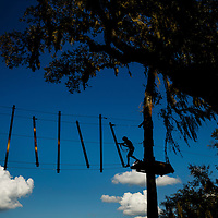 Featuring a wide range of course levels at TreeHoppers Aerial Adventure Park allows guest to climb through the sky on September 20, 2015 in Dade City. VISIT FLORIDA/Scott Audette