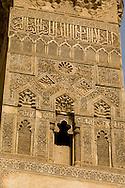 Egypt. Cairo : madrasa and mausoleum of Al-Nasir Muhammad - NM44 -. the minaret. in Al Mu'izz street . +