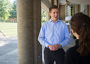 Kevin Warner talks in the Scripps Ampitheater on Wednesday, September 9, 2015. Photo by Emily Matthews