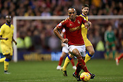 Nottingham Forest forward, on loan from Brighton & Hove albion, Chris O'Grady  during the Sky Bet Championship match between Nottingham Forest and Leeds United at the City Ground, Nottingham, England on 27 December 2015. Photo by Simon Davies.