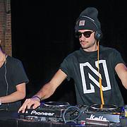 NLD/Amsterdam/20130205 - Modeshow Nikki Plessen 2013, Valerio Zeno als dj