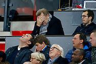 17-12-2015 VOETBAL: KNVB BEKER: FEYENOORD- WILLEM II: ROTTERDAM<br /> <br /> Jan Boskamp kan het ook niet meer aanzien in de Kuip vanaf de tribune<br /> <br /> Foto: Geert van Erven