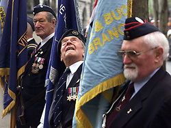 Peter Skinner checks for rain , during the 60th Anniversary service of The Commonwealth Air Plan, The St Clement Danes church, Strand, London, April 30, 2000. Photo by Andrew Parsons / i-images..